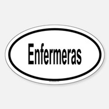 ENFERMERAS Oval Decal