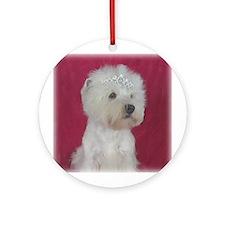 Queen of Hearts Westie Ornament (Round)