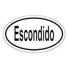 ESCONDIDO Oval Decal