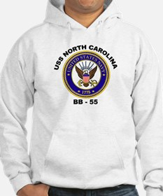 USS North Carolina BB 55 Hoodie