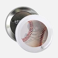 "Skull & Crossbones Baseball 2.25"" Button (10 pack)"
