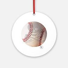 Skull & Crossbones Baseball Ornament (Round)