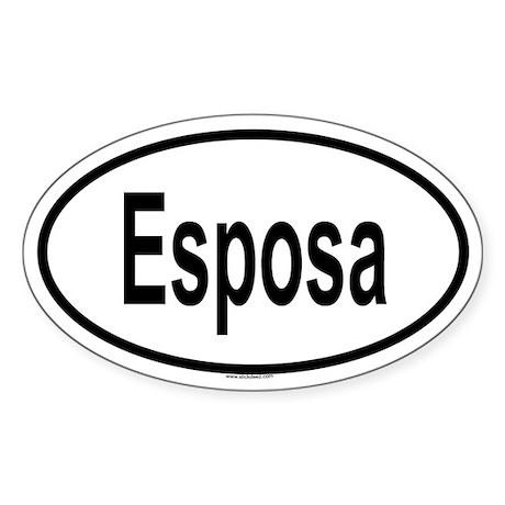 ESPOSA Oval Sticker