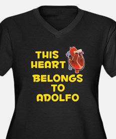 This Heart: Adolfo (A) Women's Plus Size V-Neck Da