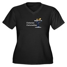UUF Earth Women's Plus Size V-Neck Dark T-Shirt