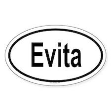 EVITA Oval Decal