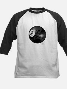 Skull & Crossbones 8-ball Kids Baseball Jersey