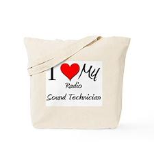 I Heart My Radio Sound Technician Tote Bag