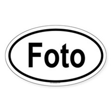 FOTO Oval Decal