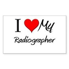 I Heart My Radiographer Rectangle Decal
