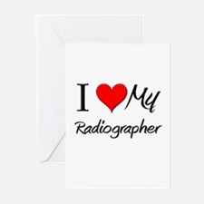 I Heart My Radiographer Greeting Cards (Pk of 10)