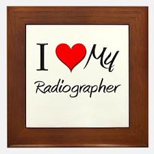 I Heart My Radiographer Framed Tile