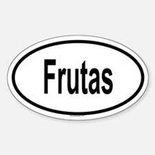 FRUTAS Oval Decal