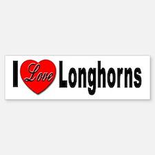 I Love Longhorns Bumper Bumper Bumper Sticker