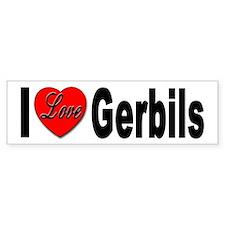 I Love Gerbils Bumper Sticker for Gerbil Lovers