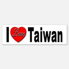 I Love Taiwan Bumper Sticker for Taiwan Lovers
