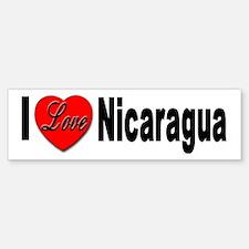 I Love Nicaragua Bumper Bumper Bumper Sticker