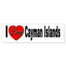 I Love Cayman Islands Bumper Bumper Sticker