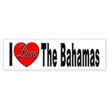 I Love The Bahamas Bumper Bumper Sticker