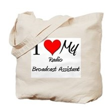 I Heart My Radio Broadcast Assistant Tote Bag