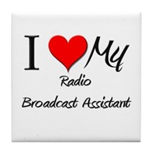 I Heart My Radio Broadcast Assistant Tile Coaster