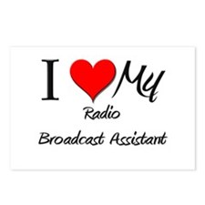 I Heart My Radio Broadcast Assistant Postcards (Pa