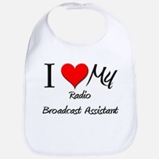 I Heart My Radio Broadcast Assistant Bib