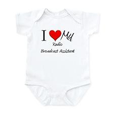 I Heart My Radio Broadcast Assistant Infant Bodysu
