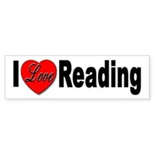 I Love Reading Bumper Car Sticker