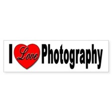 I Love Photography Bumper Bumper Sticker