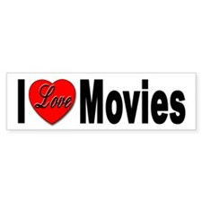 I Love Movies Bumper Bumper Sticker