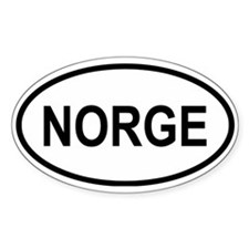 Norge Oval Decal