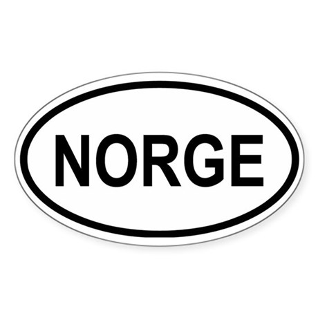 Norge Oval Sticker