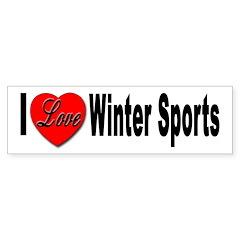 I Love Winter Sports Bumper Sticker