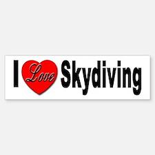 I Love Skydiving Bumper Bumper Bumper Sticker