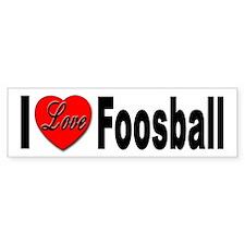 I Love Foosball Bumper Bumper Sticker