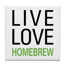 Live Love Homebrew Tile Coaster