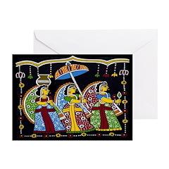 Indian Folkart Greeting Cards (Pk of 10)