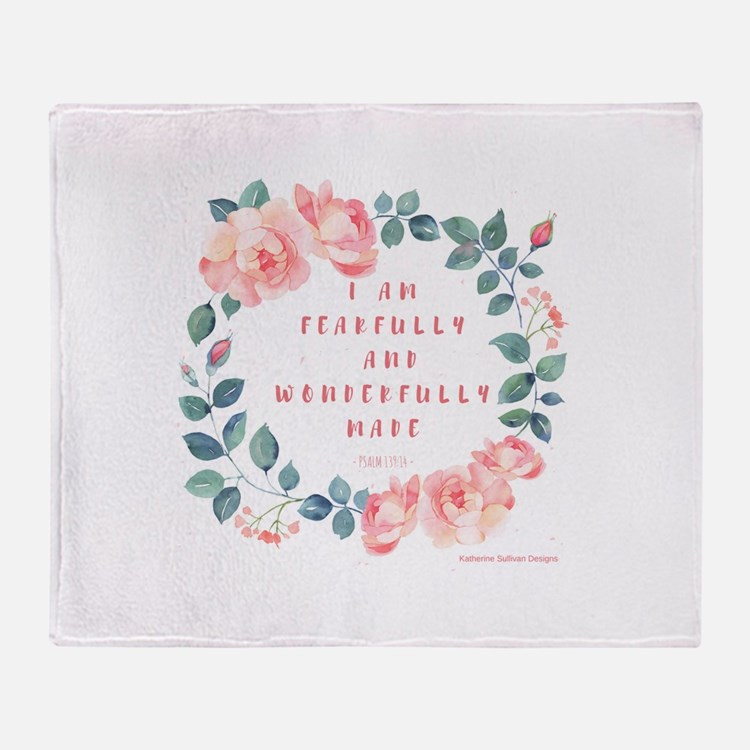 Fearfully & wonderfully made Throw Blanket