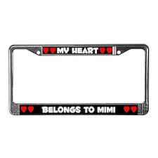 My Heart: Mimi (#001) License Plate Frame