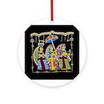Indian Folkart Ornament (Round)