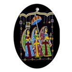 Indian Folkart Oval Ornament