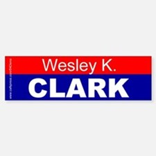 """Wesley K. Clark"" Bumper Car Car Sticker"