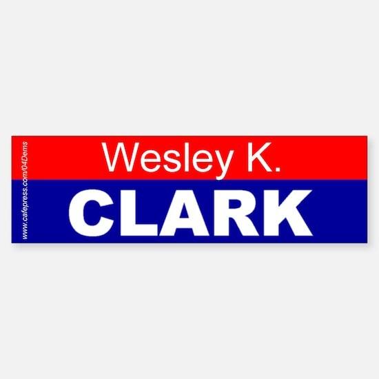 """Wesley K. Clark"" Bumper Car Car Sticker"