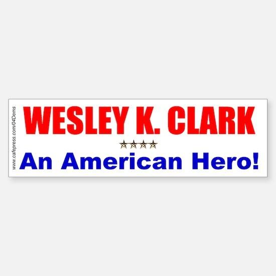 """""""American Hero"""" Bumper Car Car Sticker"""
