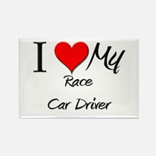 I Heart My Race Car Driver Rectangle Magnet