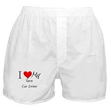 I Heart My Race Car Driver Boxer Shorts