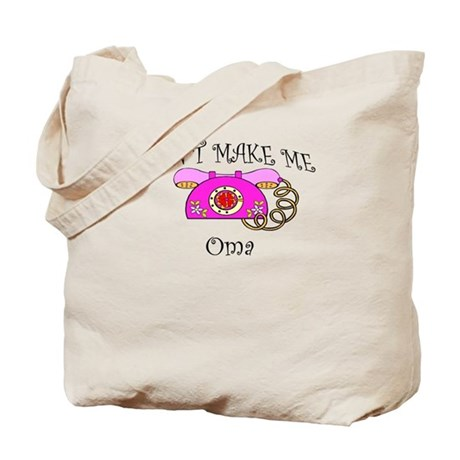Call Oma with Pink Phone Tote Bag