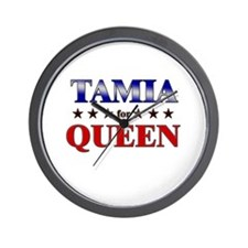 TAMIA for queen Wall Clock