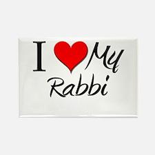 I Heart My Rabbi Rectangle Magnet